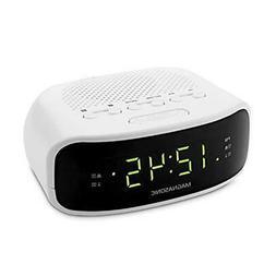 Magnasonic Digital AM/FM Clock Radio with Battery Backup, Du