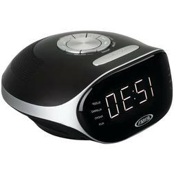 Jensen Digital Bluetooth AM/FM Dual Alarm Clock Radio