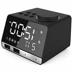 Digital Clock Radios Alarm Clock, Bluetooth Speaker With Dua
