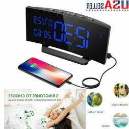Mpow Digital Dual Alarm Clock  Calendar Temperature Humidity