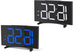 digital dual alarm clock heavy sleepers usb