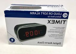 Timex Digital Electric Alarm Clock w Battery Backup Soft Lou