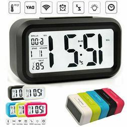 Digital Jumbo LED Bedside Desk Alarm Clock Display Calendar