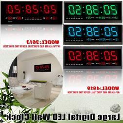 Digital Large Big Jumbo Digits LED Wall Desk Alarm Clock W/