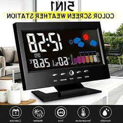 Digital LCD Alarm Clock Thermometer Humidity Meter Hygromete
