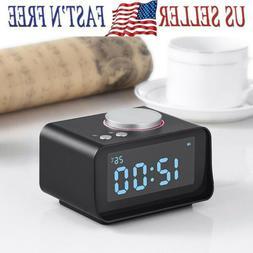 Digital LCD FM Radio Alarm Clock Dual USB Charging Port Snoo