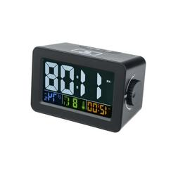 Digital LCD Snooze Electronic Alarm Clock Thermometer Humidi