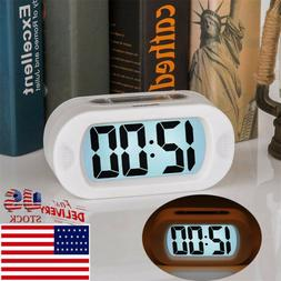 Digital LCD Travel Alarm Clock With Snooze Good Night Light