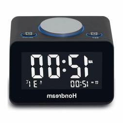 Hondream Digital Lcd Usb Alarm Clock With Usb Charger, Snooz