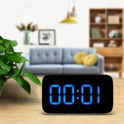 Digital LED Alarm Clock Large Screen Snooze Battery Powered