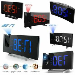 Digital LED Alarm Clock Projection SNOOZE Timer FM Radio Cei