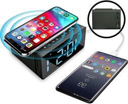 Digital LED  Alarm Clock Wireless Charging Radio Alarm Clock