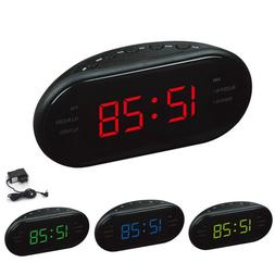 AM/FM Alarm Digital Clock Radio with LED Display/ Snooze Ala