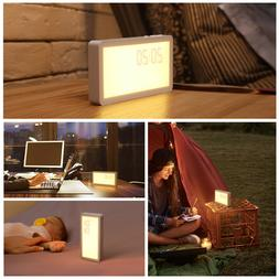 AMIR Digital LED Portable Wake-up Alarm Clock Light with Sun