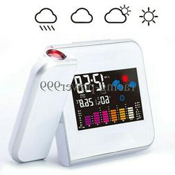 Digital LED Projection Alarm Clock Weather Thermometer Snooz