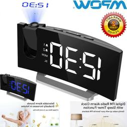Mpow Digital LED Projection Alarm Time Clock Dual Alarm Desk