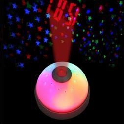 Digital Magic LED Projection Alarm Clock Night Light Color C
