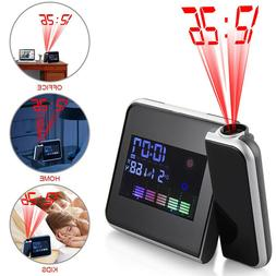 Digital Projection Alarm Clock Tempreture LED Date Time LCD
