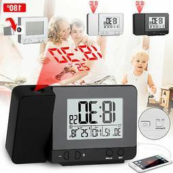 Digital Projection Alarm Clock Weather Thermometer Calendar
