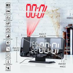 Digital Projection Weather Tempreture Alarm Clock LCD with L
