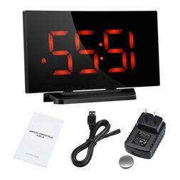 Mpow Digital Snooze Alarm Clock 5'' LED Display Clock w/ Cur