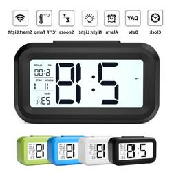 Digital Snooze LED Alarm Clock Backlight Time Calendar Tempe