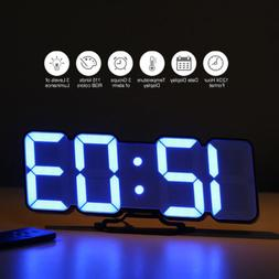 Digital Time Alarm Clock LED Desktop Wall Clock With 115 Col
