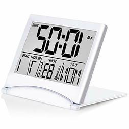 Betus Digital Travel Alarm Clock Foldable Calendar Temperatu