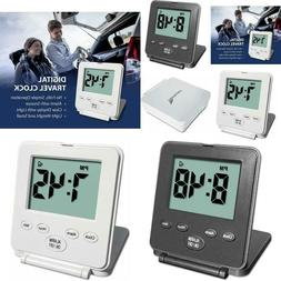 Digital Travel Alarm Clock  Loud Alarm, Snooze, Small And Li