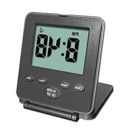 Digital Travel Alarm Clock - No Bells, No Whistles, Simple B
