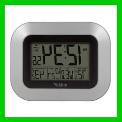 Digital Wall Clock with Sensor Alarm Calendar Indoor Outdoor