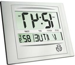 Digital Wall Desk Shelf Clock Electronic Calendar Temperatur