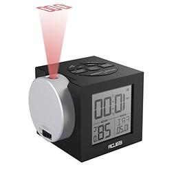 BALDR Projection Clock, Digital Alarm Clock with Snooze, Cei