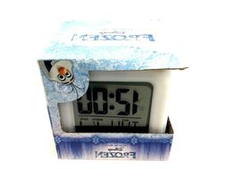 "Disney Frozen Digital Alarm Clock 3"" Kids Room Decor Month Date Time Day"