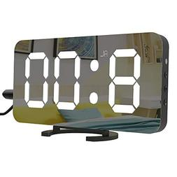 "LightBiz Large Display Alarm Clock, Digital Clock Large 6.5"""