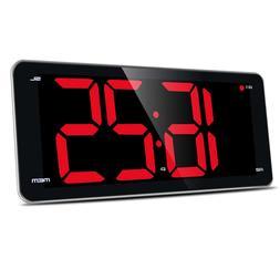 LIELONGREN Digital Alarm Clock Radio, Jumbo LED Digital Cloc