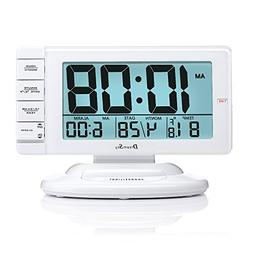 DreamSky Large Display Alarm Clock with Smart Nightlight and