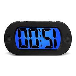 HENSE Large LCD Display Digital Smart Light Alarm Clock,Snoo