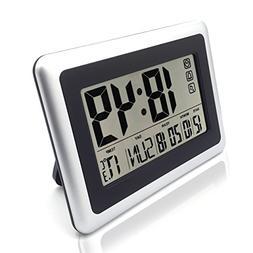 Large Display Digital Wall Clock,Silent Desk Shelf Clocks Ba