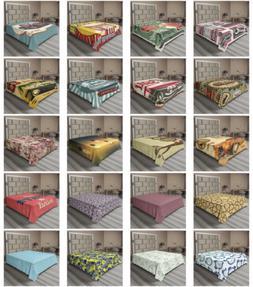 Ambesonne Doodle Flat Sheet Top Sheet Decorative Bedding 6 S