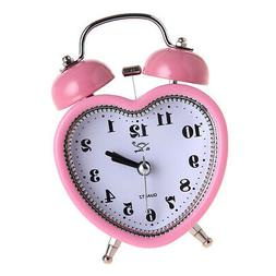 Double Bell Dial Alarm Clock Quartz Movement Bedside With Ni