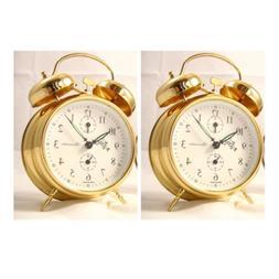 Sternreiter Double Bell Mechanical Wind Alarm Clock - Gold -