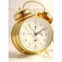 Sternreiter Double Bell Mechanical Wind Alarm Clock - Gold M