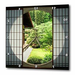 3dRose DPP_76381_3 Round Window, Zen Garden, Kyoto, Japan AS