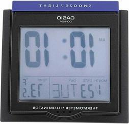 Casio DQ-750F-1D Digital Alarm Clock - Thermometer Snooze Ca