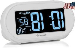 DreamSky Auto Time Set Alarm Clock with Snooze and Dimmer Ch
