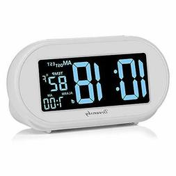 DreamSky Auto Time Set Alarm Clock with Snooze Dimmer & Char