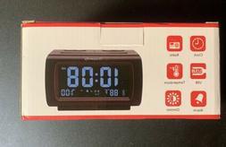 DreamSky DS206 Alarm Clock FM Radio USB Port Temperature Bla