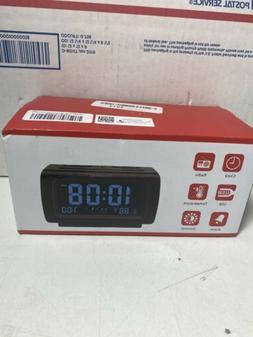 DreamSky DS206 Alarm Clock with USB port, FM Radio & Tempera