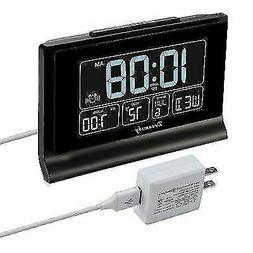 DreamSky DS313 6.6in. LCD Auto Set Digital Alarm Clock - Blu